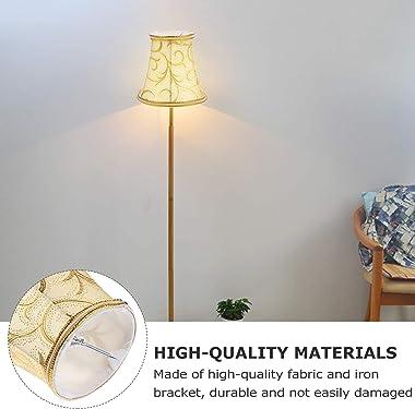IMIKEYA Small Barrel Lamp Shade DIY Handmade Royal European Style Fabric Lamp Cover Shade Retro Floor Chandelier Light Shade