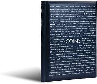 Leuchtturm 335392 Álbum de bolsillo para monedas con 8 hojas, cada una para 12 monedas, azul