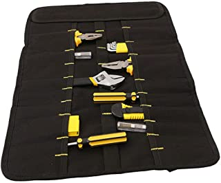 Canvas 20 Pocket Tool Roll Up Spanner Wrench Tool Storage Bag Blue