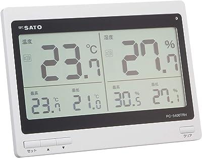 佐藤計量器(SATO) 温湿度計 デジタル 最高最低温湿度記録 設定温度を超えるとお知らせ PC-5400TRH 1074-00