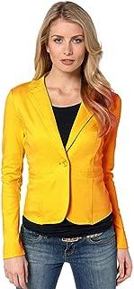 Dawwoti Women's Slim Blazer Coat Solid Color Casual Top