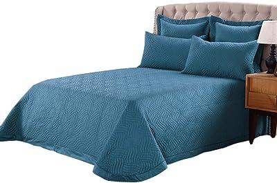 Amazon.com: HollyHOME - Colcha de cama de lujo, supersuave ...