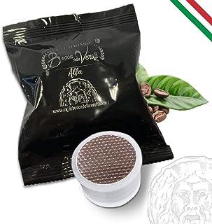 BOCCA DELLA VERITÁ Café Italien - Boîte de 100 capsules, Arôme ALFA, Compatible avec Machine à Café Lavazza Espresso Poin...