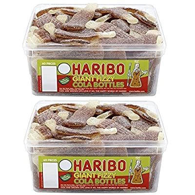 2 x full tubs haribo sweets party favours treats candy box wholesale (giant fizzy cola bottles) 2 x Full Tubs Haribo Sweets Party Favours Treats Candy Box Wholesale (Giant Fizzy Cola Bottles) 61nok31j3JL