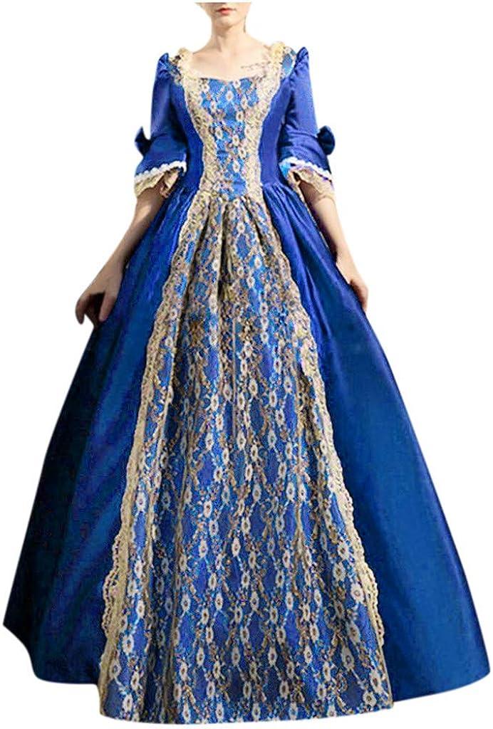 DZQUY Womens Halloween Max 41% OFF Lolita lowest price Vintage Dress Gothic Steam