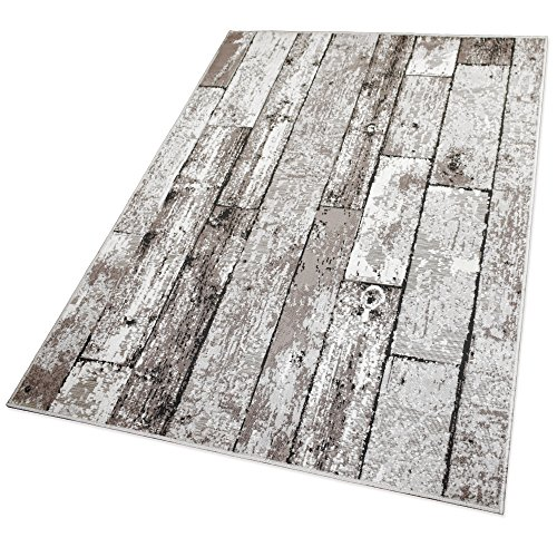 Balta Rugs In- und Outdoor-Teppich Beige Wooden Floor L 160x230cm für Innen und Außen