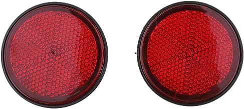 Gazechimp 2 Pair 2 inch 55mm Round Reflector, Side Marker Light Shell for Motorcycle ATV Scooter Dirt Bike - Red & Orange