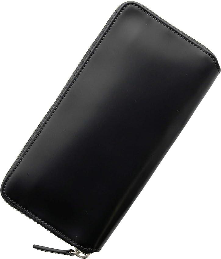 体系的に平らにするコンペ[ PRAIRIE ] プレリー 日本製 コードバン ラウンドファスナー 長財布 メンズ スリム 薄型
