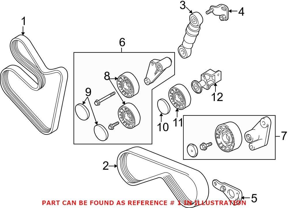 Spasm price Genuine OEM Serpentine Belt For BMW 740i E39 540i E53 740iL E38 Max 56% OFF