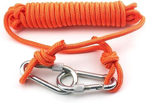 Escalade Corde Articles de Sport en Plein air, Corde à Usage intensif, Diamètre 6mm Sécurité Durable Haute Qualité - Orange