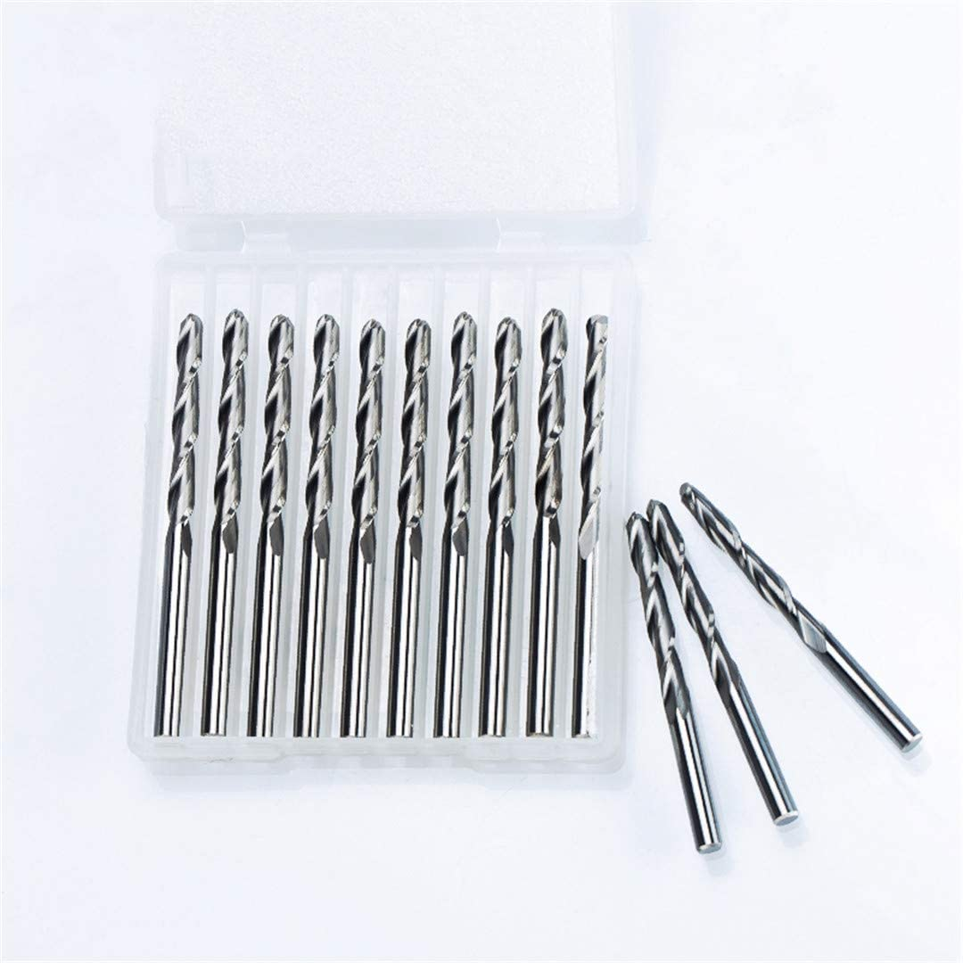5Pcs//Lot 3.175Mm 2 Flute Spiral Ball Nose End Mill CNC Router Bits For Wood Acrylic PVC Tungsten Carbide Milling Router 2526