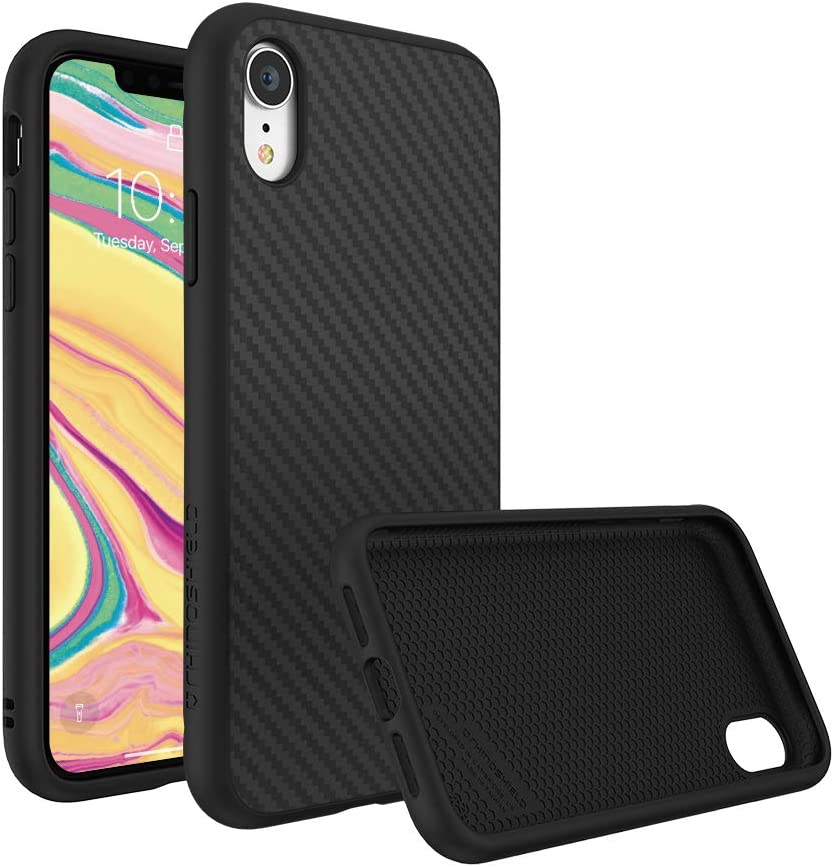 RhinoShield Ultra Protective Phone Case [iPhone XR] | SolidSuit - Military Grade Drop Protection Against Full Impact, Supports Wireless Charging, Slim, Scratch Resistant - Carbon Fiber Texture