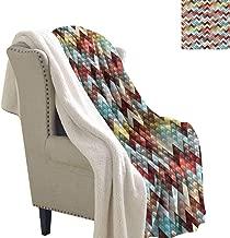Jaydevn Chevron Lightweight Fluffy Flannel and Sherpa Blanket Ornate Baroque Floral Lightweight All-Season Blanket 60x78 Inch