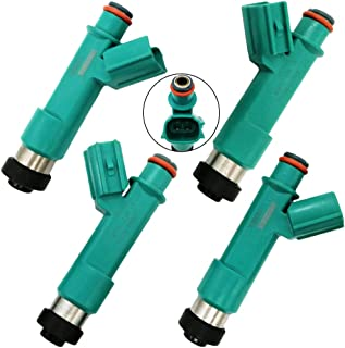 Automotive-leader 4pcs/set 23250-28080 Fuel Injectors 12 Holes for Toyota 2004-2007 Highlander 2009-2013 Corolla 2004-2008...