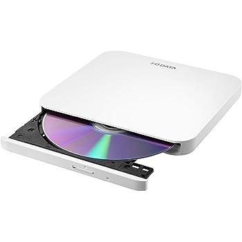 I-O DATA ポータブルDVDドライブ 軽量 USB2.0(USB3.0のPCでも利用可) バスパワー Win/Mac 国内メーカー EX-DVD05LW ホワイト