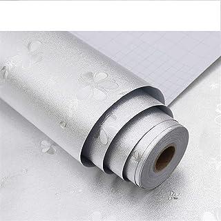 SHREE HARI Square Aluminium Oil Proof Foil Stickers Self-Adhesive Wall Sticker Kitchen Backsplash Wallpaper Anti-Mold and ...