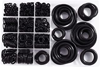 Litorange Silicone 580PCS 45A Universal Black O-Ring Sealing Gasket Washer Seal Assortment Set (Better than Rubber) for Plumbing,Automotive,General Repair 15 Size with Case