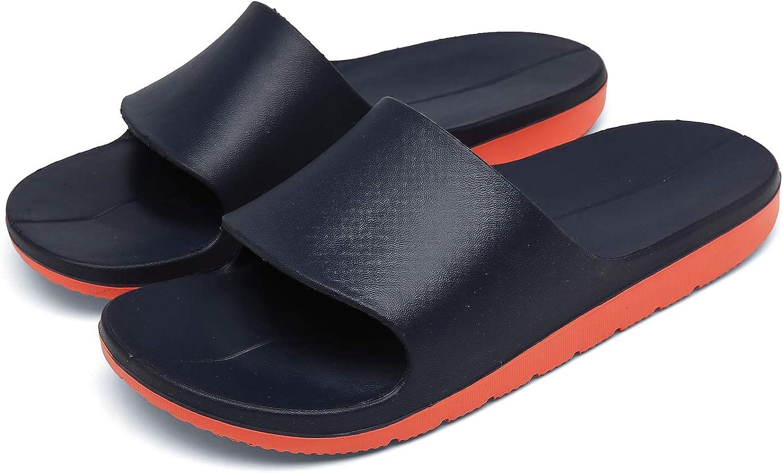 Sport Slide Sandals for Men - Outdoor Non-slip Comfortable And Lightweight Shower Shoes Street Surf Skis Beach Slippers