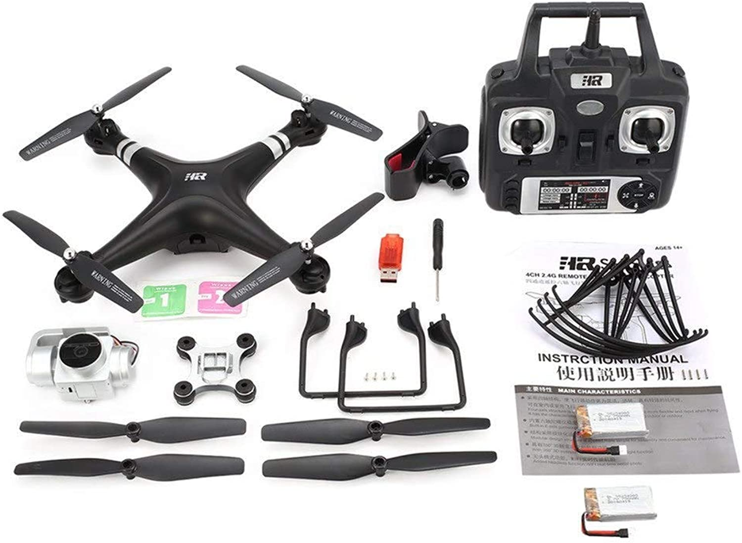 Generic SH5HD FPV RC Drone Quadcopter with 1080P Adjustable Wide Angle WiFi HD Camera Live Video Altitude Hold with 2 3 Batteries Model 720p Black 2 B
