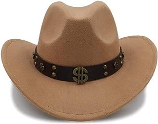 Ruiyue Winter Wool Felt Cowboy Hats With Leather Band Chapeu Masculino For Women Men