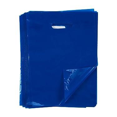 Plastic Merchandise Bags, Goodie Bag (Blue, 9 x 12 In, 100-Pack)