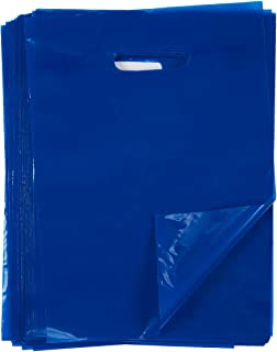 Plastic Merchandise Bags, 100-Piece Set - Goody Bags - Treat Bags - Great for Retail, Birthday Party, Favor, Shopping, Gift Use | Blue, 9 x 12 Inches