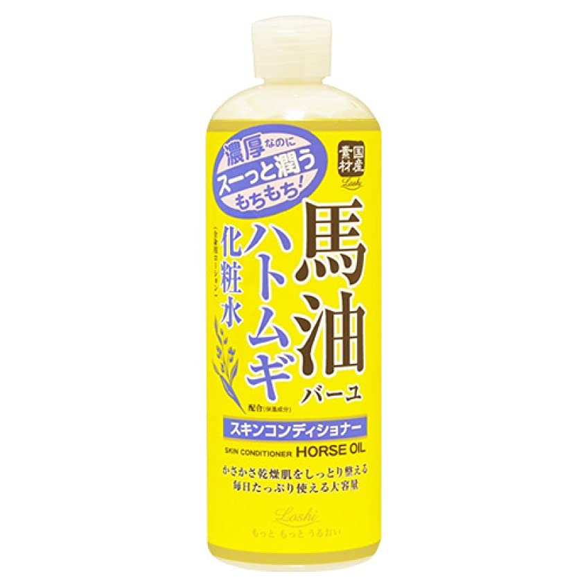 レース余剰行政ロッシモイストエイド スキンコンディショナー 馬油&ハトムギ 500ml (化粧水 ローション 高保湿)