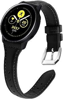 KIMILAR Skórzana Bransoletka Kompatybilny z Samsung Galaxy Watch 42 mm/Watch Active/Active 2 (40 mm/44 mm)/Galaxy Watch 3 ...