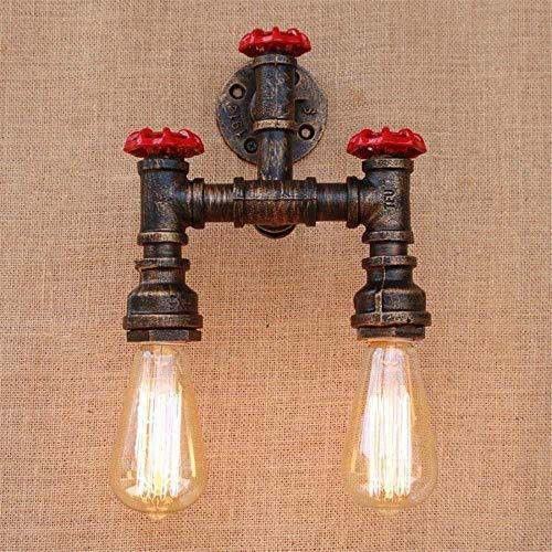 BOSSLV Lampes Murales de Lavage Lampes Appliques Murales Applique Steampunk Appliques Murales en Fer Forgé Canalisation d'eau Rustique Maison Deco Loft Intérieur