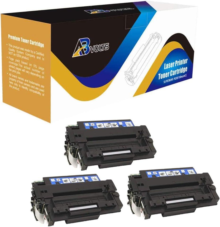 AB Volts Compatible High Yield Toner Cartridge Replacement for HP Q7551X for Laserjet M3027 M3027x M3035 M3035xs P3005 P3005d P3005dn P3005n P3005x (Black,3-Pack)
