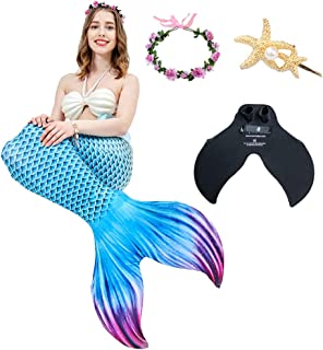 Mermaid Sexy Swimsuit, Mermaid Tail Adult Split Swimsuit, 6PCS Bikini Princess Suit Swimsuit Suitable for Beach/Pool/Party