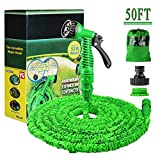 Running Bulls Expanding Garden Water Hose Pipe with 7 Function Spray Gun Expandable