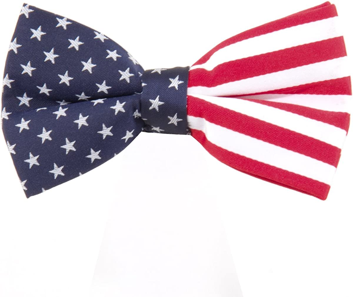 American Woven Polyester Pre-tied Bow Tie Made By Eagles Wings