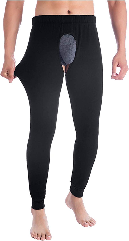 Men's Thermal Pants, ski Underwear, Sexy Open Pants, Solid Color Pants, Men's Underwear