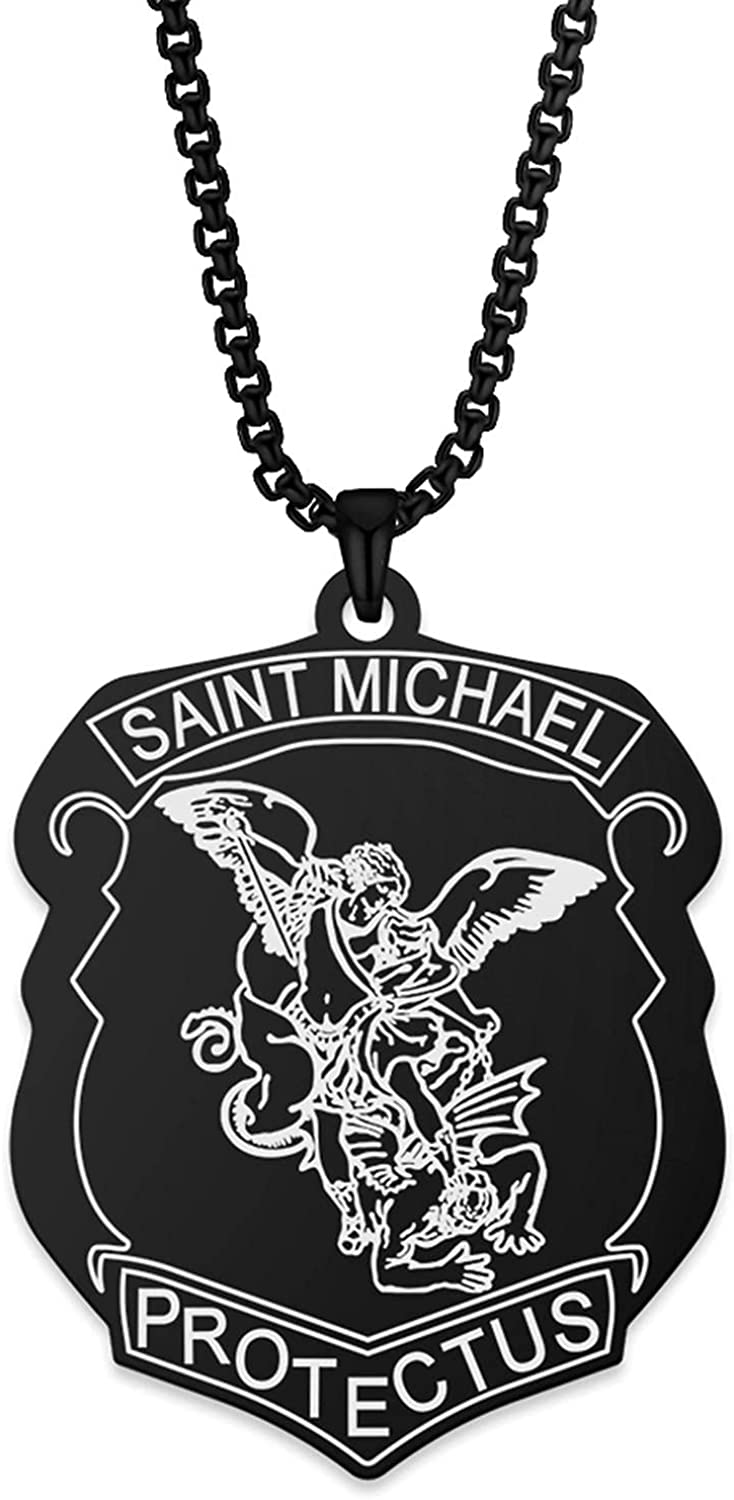 Saint St. Michael Special Campaign The Ranking integrated 1st place Archangel Pendant Stainless Steel Necklace