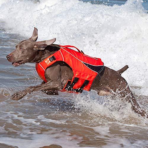 LXYDD Haustierkleidung Hund Badeanzug Sommer Teddy Golden Retriever liefert kleine und mittlere große Hund Auftriebsschwimmring Hund Schwimmweste,Rot,S