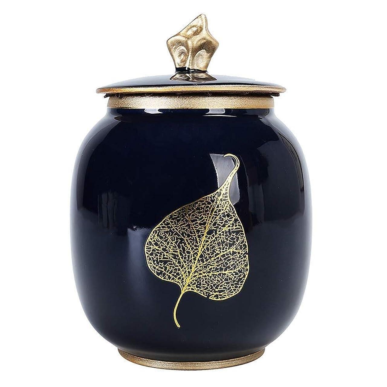 叫び声上げるおとこミニ骨壷 葬儀の,、ペットの灰の記念品の創造的な手塗りの家の装飾のための陶磁器の火葬のUr (Color : A)