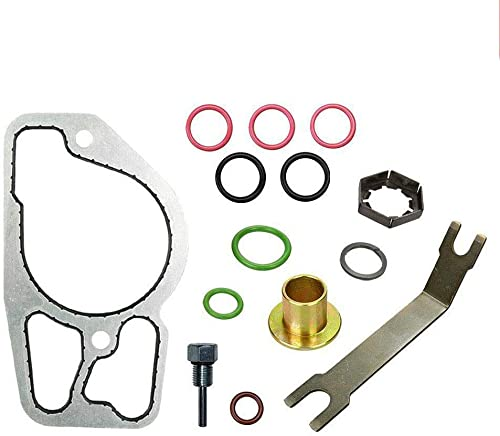 new arrival High Pressure Oil Pump outlet sale Kit with Base Gasket, HPOP Upgraded Full Replacement for 1994.5-2003 Ford Powerstroke Diesel Engine 7.3L outlet online sale F250-F550, E250-E450, Excursion (Pack of 14 Set) online