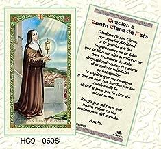 Oracion a Santa Clara de Asisi Paper Prayer Cards - Pack of 100 - HC9-060S-L