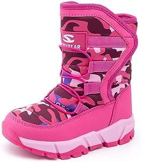 BODATU Boys Snow Boots Outdoor Waterproof Winter Kids Shoes
