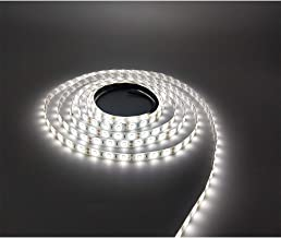 LEDMY Flexible LED Strip Light, DC12V Tape Lights, 6000K Strip Lights, 300 LEDs SMD2835 16.4ft/5m Light Strip,Easy Waterpr...