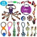 UPSKY Dog Rope Toys Puppy Grinding Teeth 15 Nearly Indestructible Dog Toys Dental Cleaning Product Prevents Boredom and Relieves Stress