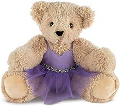 Vermont Teddy Bear - Super Soft Teddy Bear, Plush Bear in Purple Ballet Dress, Brown, 15 inches
