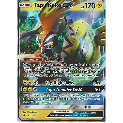 Pokemon carte da gioco GX 47/145