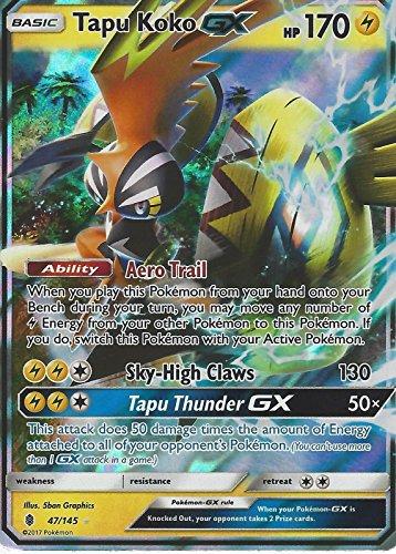 Pokémon Soleil et Lune Guardians Rising Tapu Koko GX 47/145Holo carte