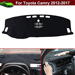 New 1pcs Black Non-Slip Dash Mat Dashboard Mat Dash Carpet Dash Covers Dashboard Cover Custom Fit for Toyota Camry 2012 2013 2014 2015 2016 2017
