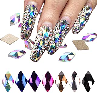 Flat Back Multicolor AB Crystal Bead Rhinestoneas Gems Pearls For 3D Nail Art Phone DIY Crafts(Pack of 70)