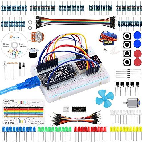 Keywish Set/Kit für Arduino, Nano Projekt Das Vollständige Starter Kit mit Tutorial, Nano Mikrocontroller und viel Zubehör für Arduino Nano Board (Kompatibel UNO R3)