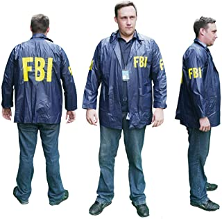 Burt Macklin FBI Windbreaker Jacket Costume Parks And Recreation Rec Andy Dwyer