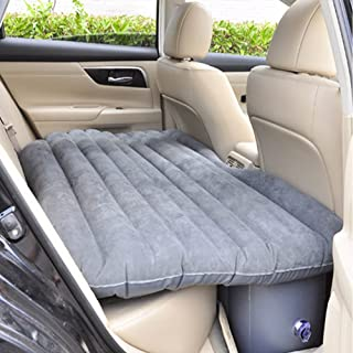 Shag Car Travel Air Bed PVC Inflatable Mattress Pillow Camping Universal SUV Back Seat Couch with Repair Bag Compression S...
